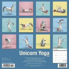 Unicorn Yoga 2020 Wall Calendar