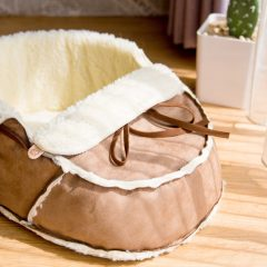 Sherpa Moccasin Pet Bed