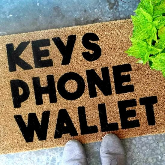 Keys Phone Wallet Doormat