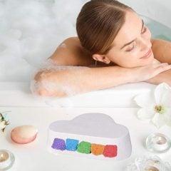 Colorful Rainbow Cloud Bath Bombs