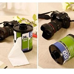 Camera Roll Tissue Dispenser Box