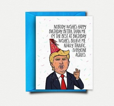 Donald Trump Birthday Card