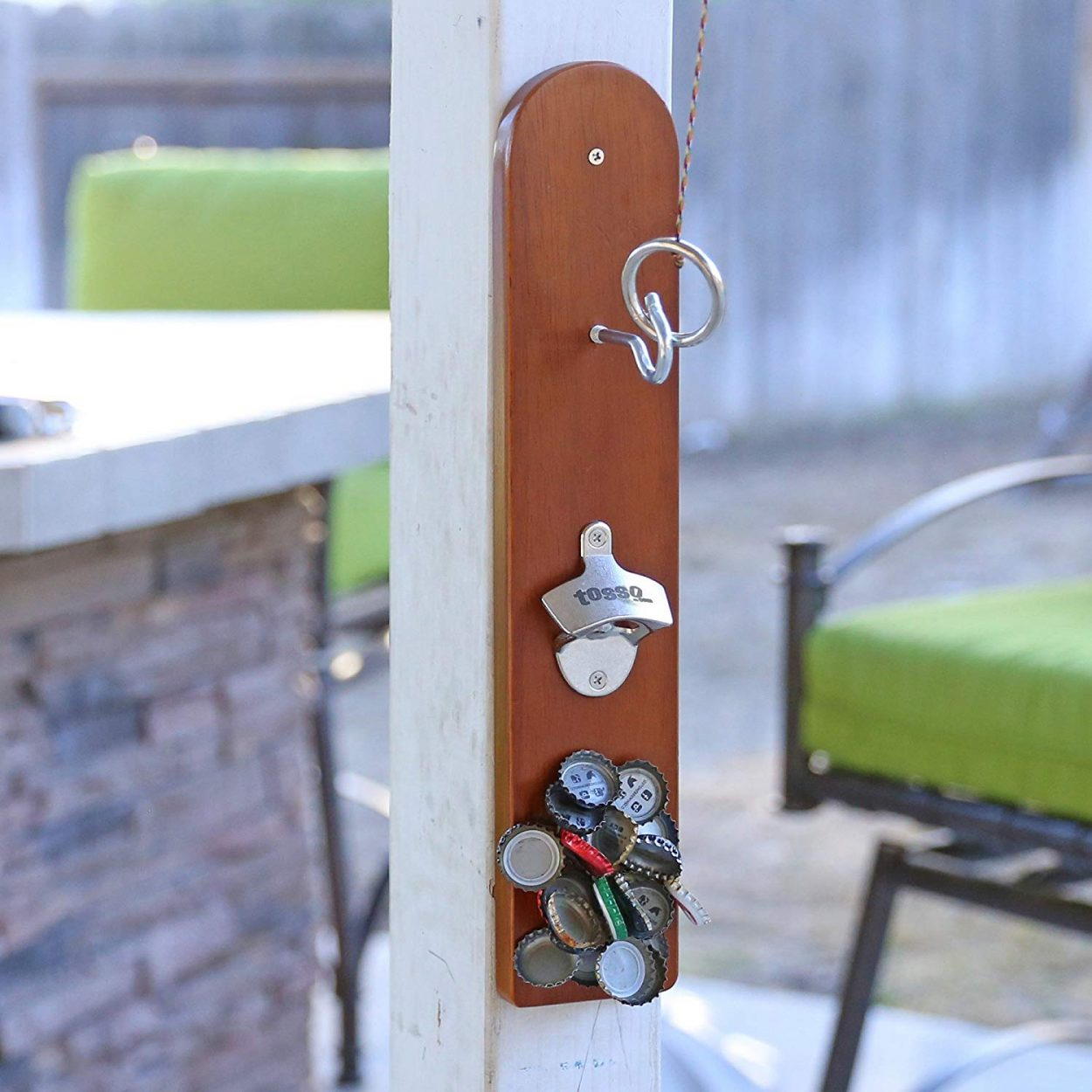 Hook and Ring Game Wall-Mounted Bottle Opener