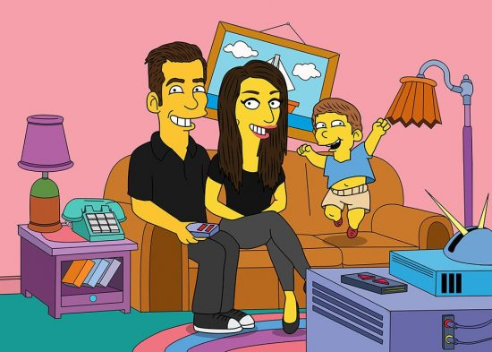 Personalized Simpsons Portraits