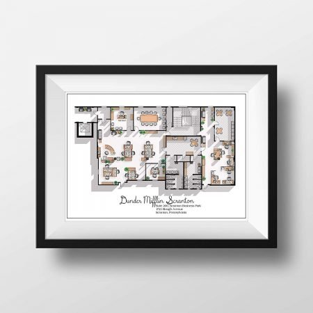 The Office Floor Plan Print