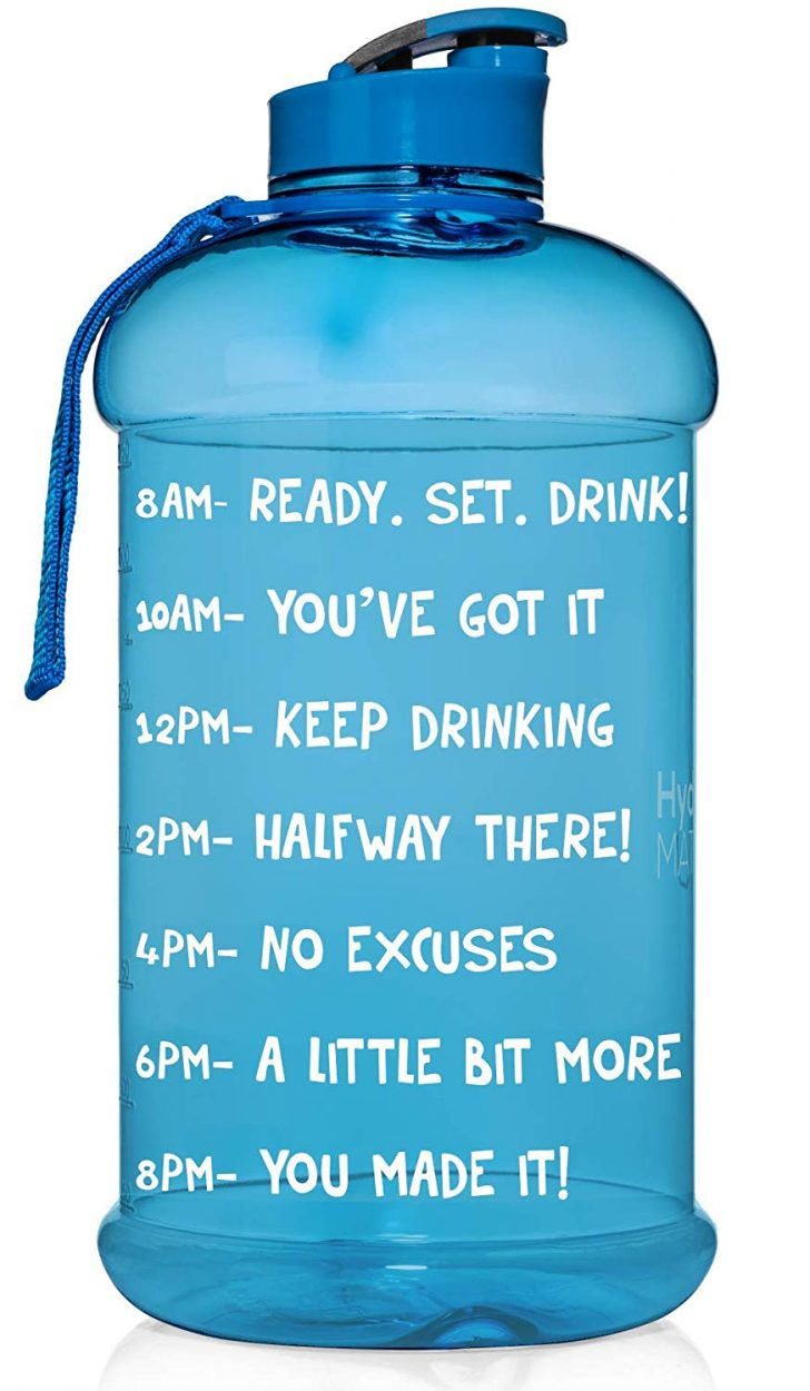 Half Gallon Motivational Water Bottle