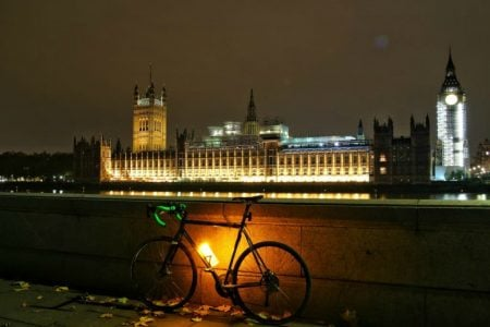 The Orb: Bike Light and Water Bottle