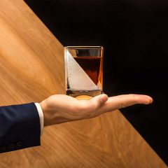 Whiskey Wedge + Glass