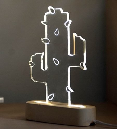 Concrete Cactus Lamp