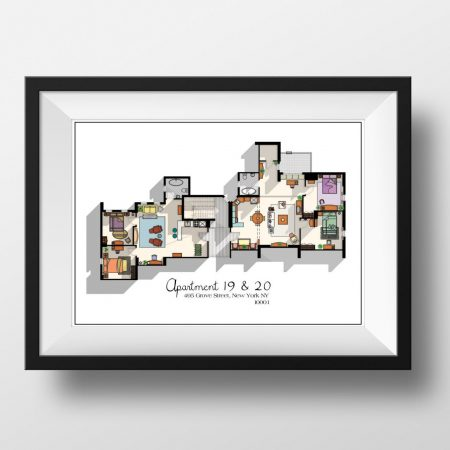 Friends Apartment Floor Plan Print