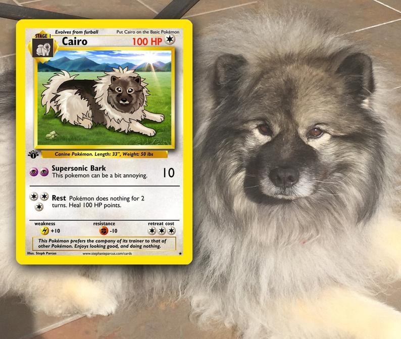 Personalized Pet Pokemon Cards