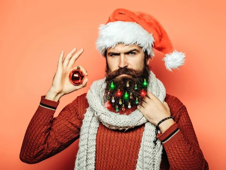 Light Up Beard Ornaments