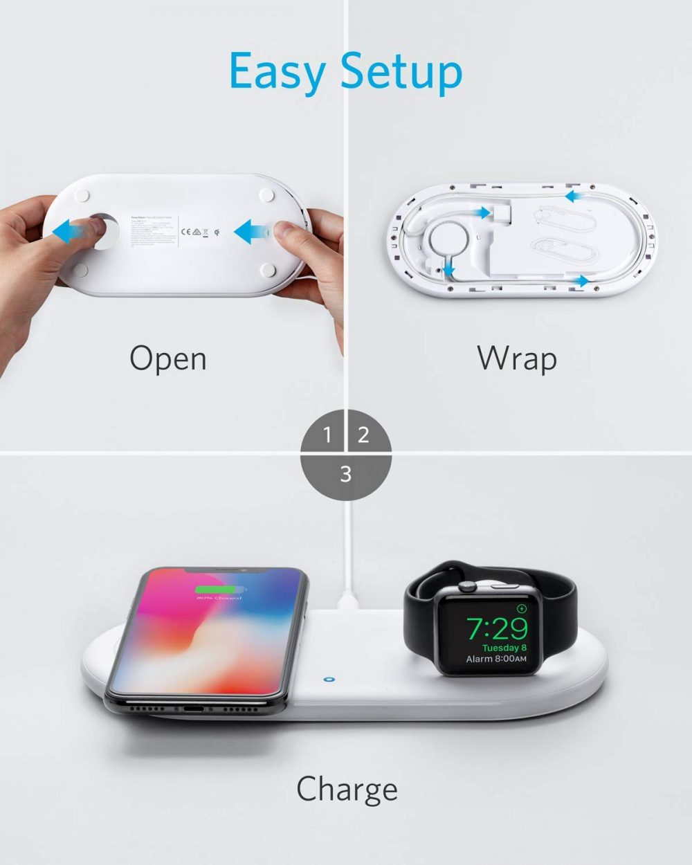 Anker Wireless Charger with Apple Watch Holder