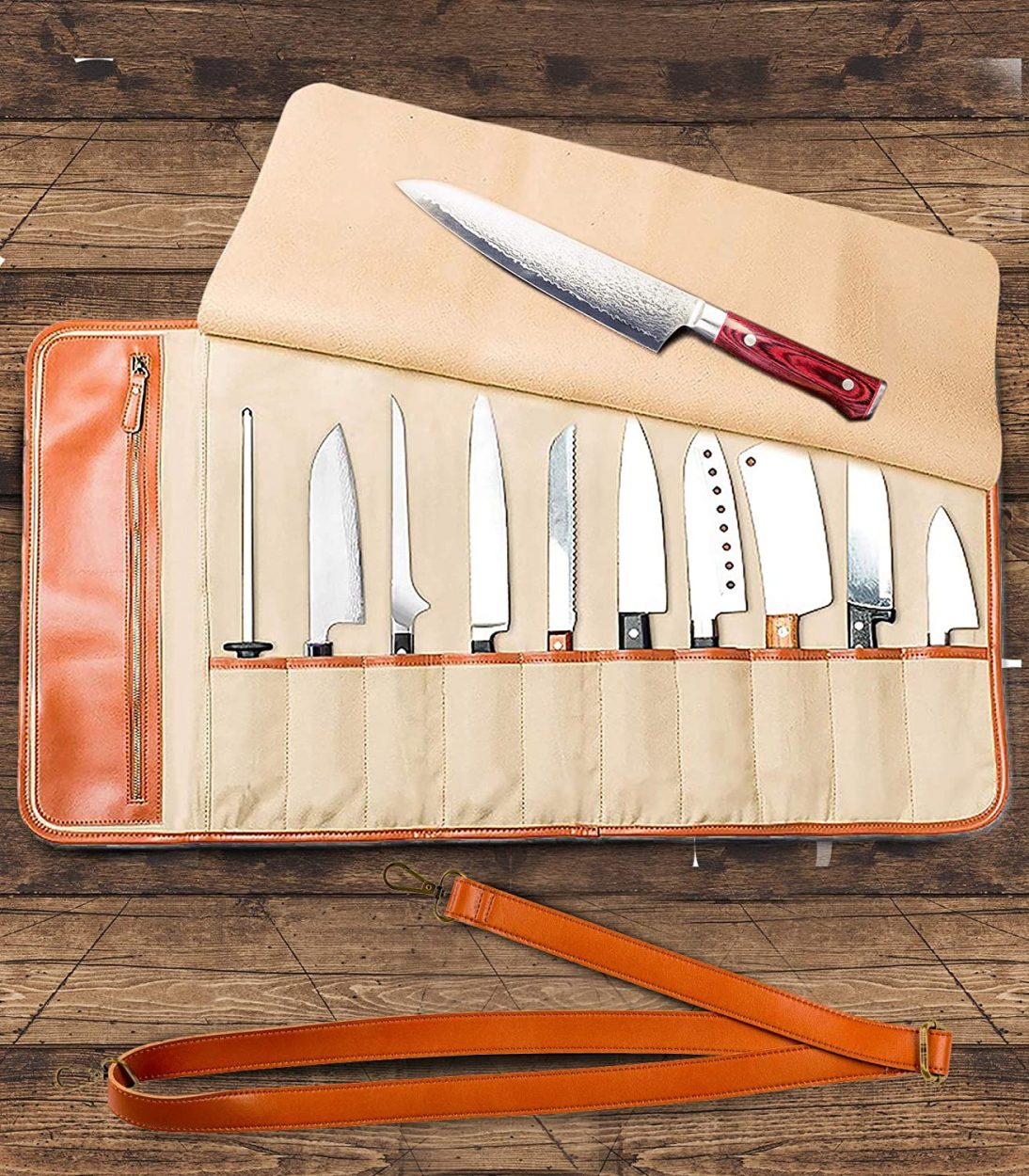Chef's Knife Roll Up Storage Bag