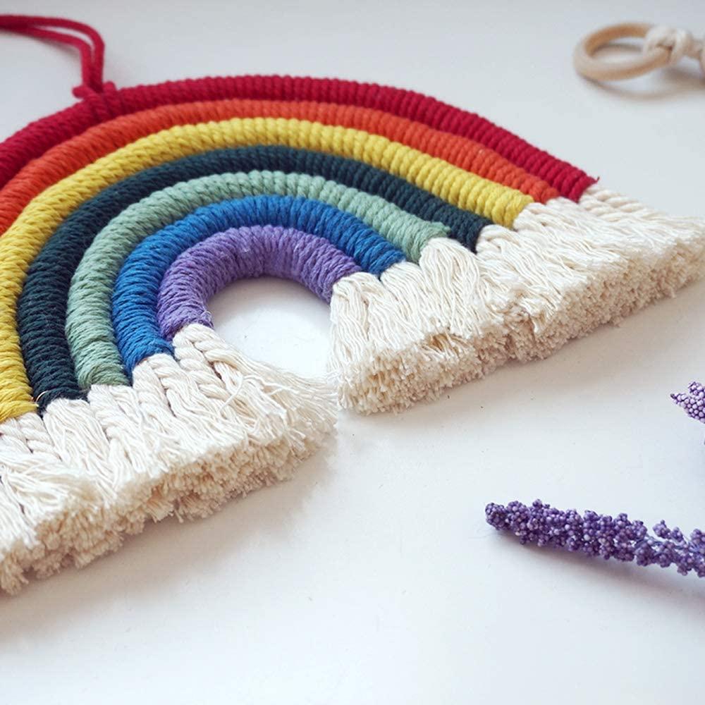 Hand-Woven Macrame Rainbow