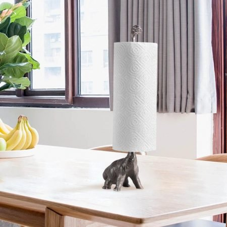 Iron Dinosaur Paper Towel Holder