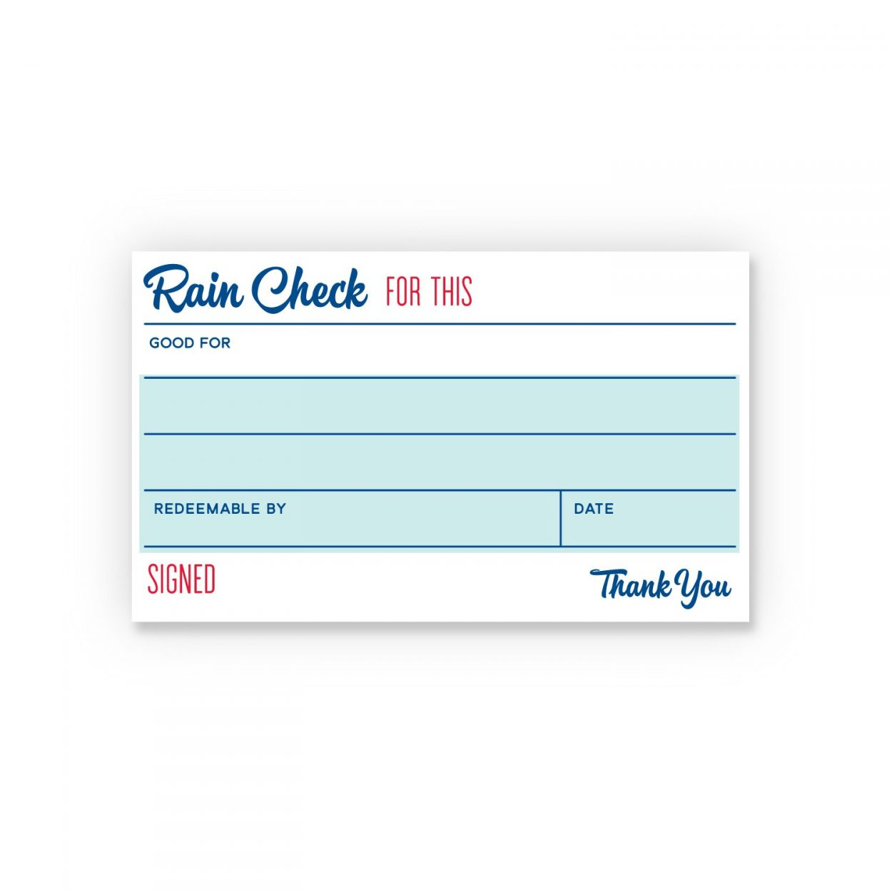 Raincheck - Social Currency Cards