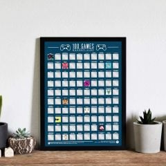 100 Bucket List Games Scratch-Off Poster