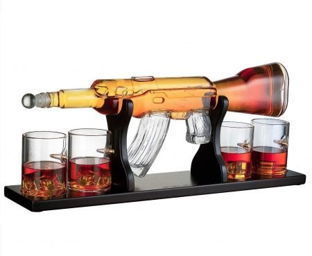 AK-47 Rifle Whiskey Decanter