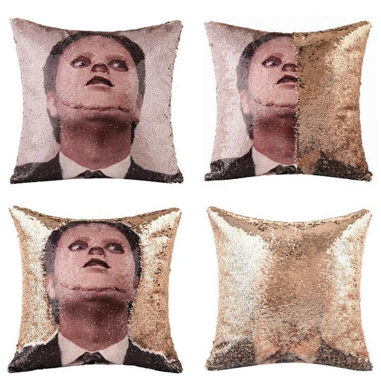 Dwight Schrute The Mask Sequin Pillow