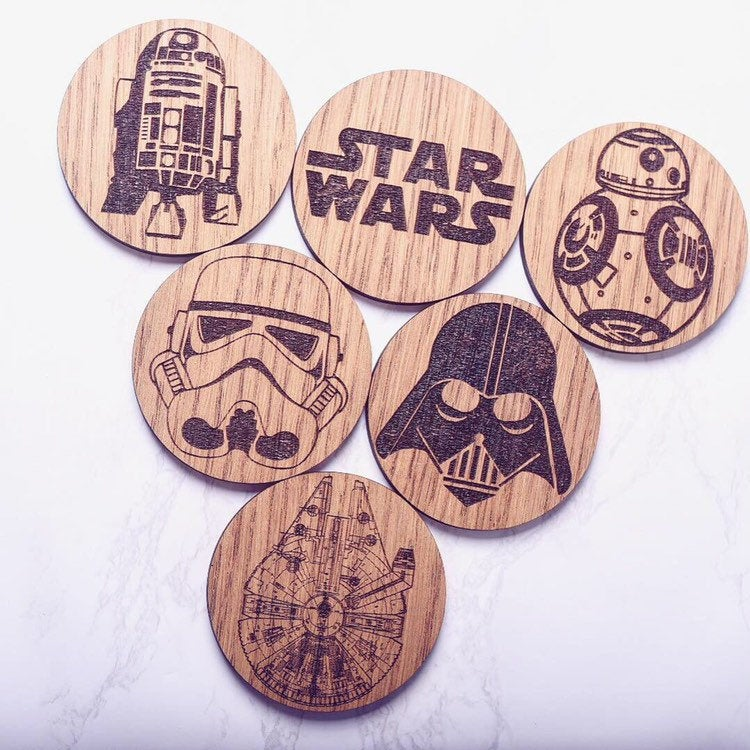 Wooden Star Wars Coasters