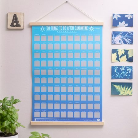 100 Things To Do After Quarantine Scratch-Off Poster