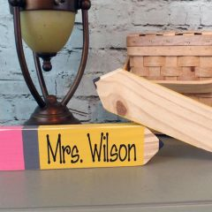 Personalized Teacher Pencil Name Plate