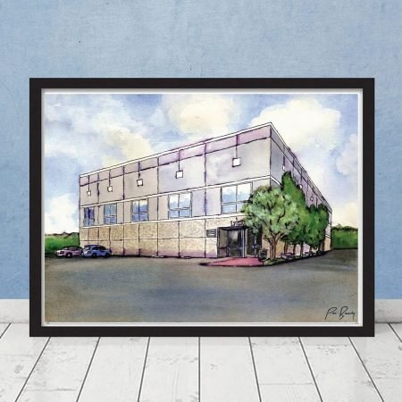 The Office Pam's Watercolor Painting