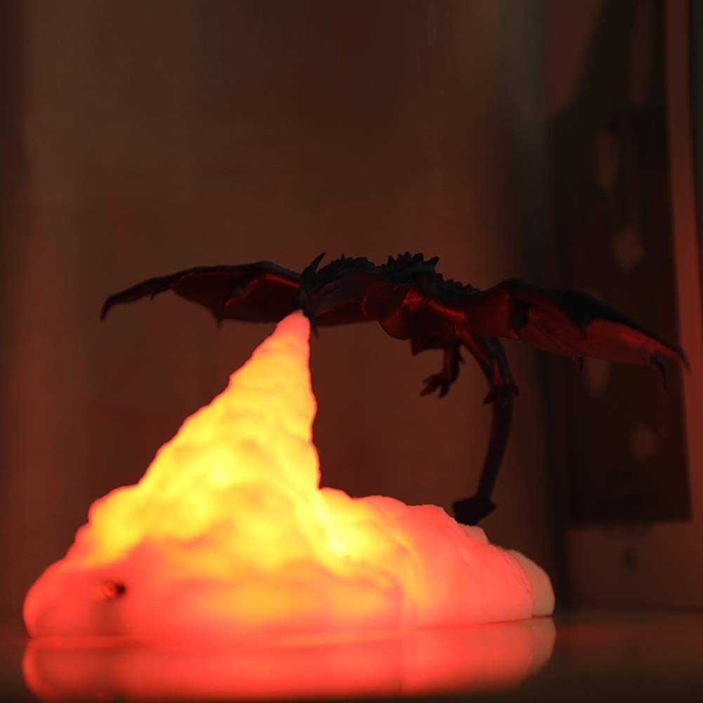 Fire Breathing Dragon Table Lamp