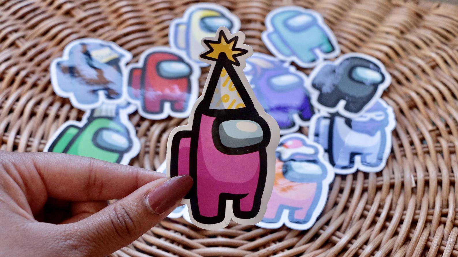 Among Us Customizable Sticker Pack