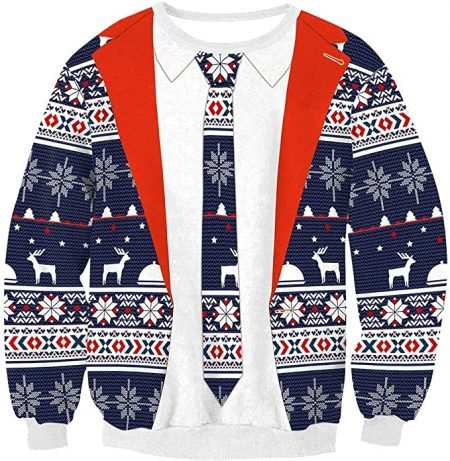 Business Suit Ugly Christmas Sweater