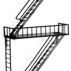 Fire Escape Shelves