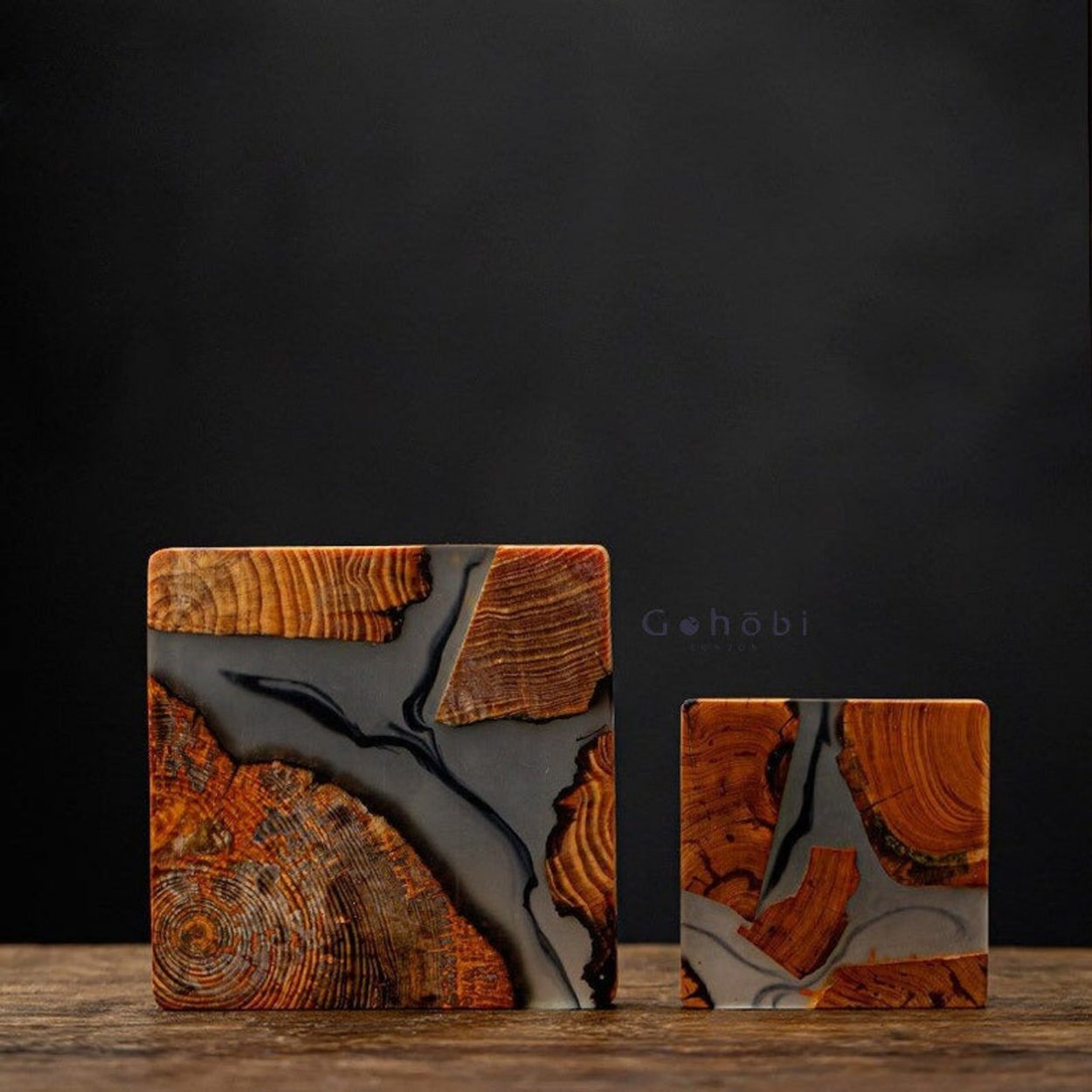 Wood And Resin Coasters