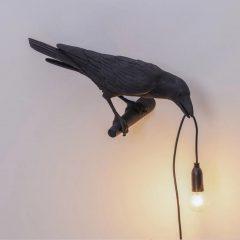Black Raven Table Lamp